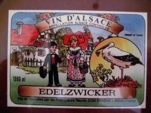 Этикетка, эльзасское вино